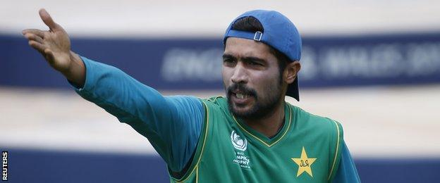 Mohammad Amir took part in a full training session after missing the semi-final against England