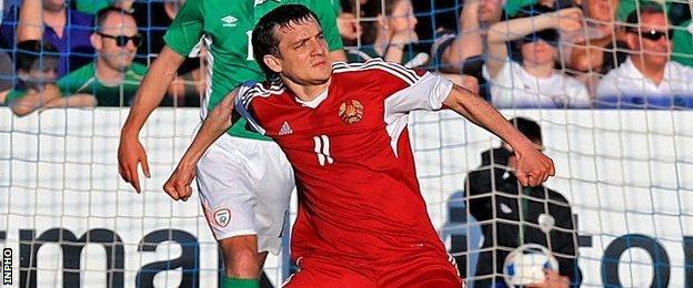 Mikhail Hardzeichuk put Belarus ahead in the first half with a stunning strike