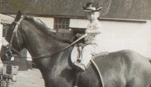 Nick Skelton on his first pony Oxo