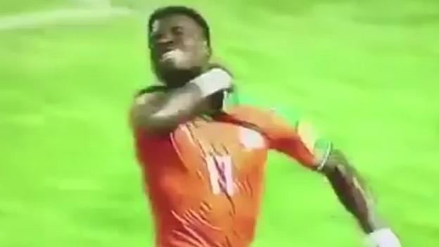 Image result for Serge Aurier: PSG defender investigated by Fifa for 'throat slit' gesture