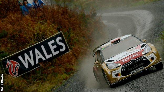 Robert Kubica racing in the WRC Wales Rally Great Britain