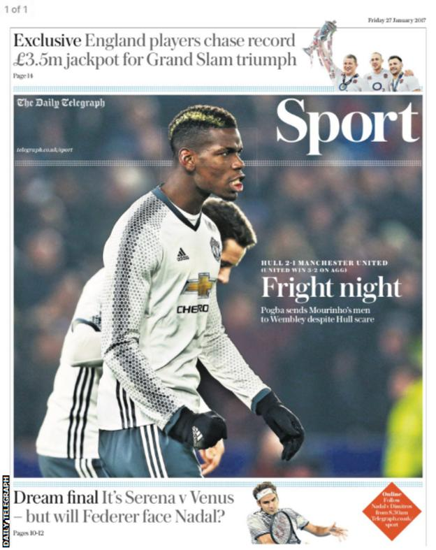 The Daily Telegraph back page