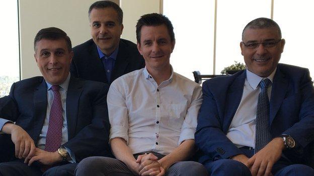 Andy Howard (centre) with the Al Qadi family