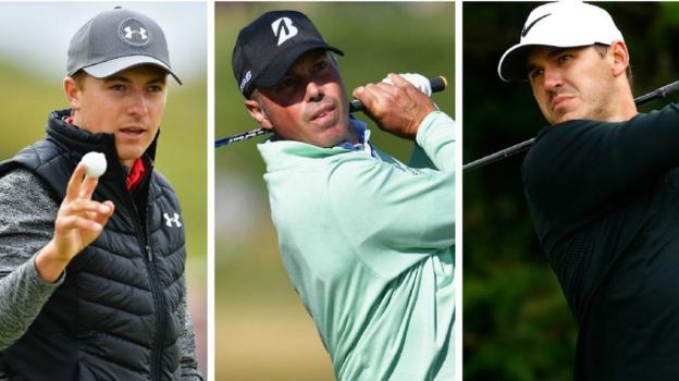 Spieth, Koepka & Kuchar share Open lead - report & video