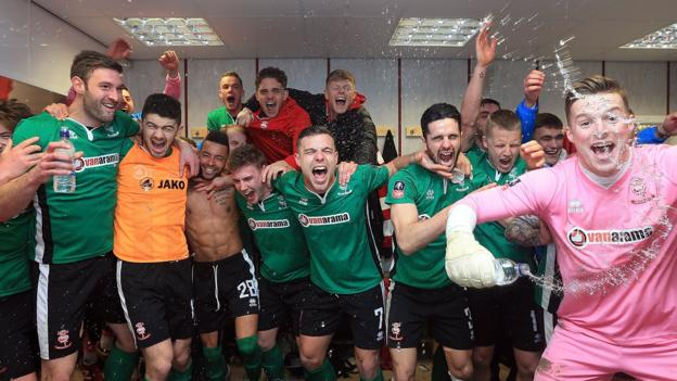 Lincoln City become the first non-league side in 103 years to reach the FA Cup quarter-finals