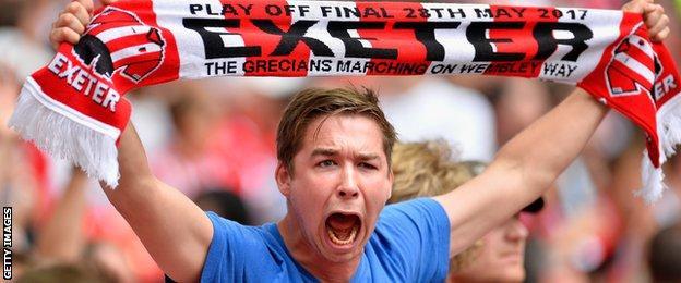 Exeter City fan