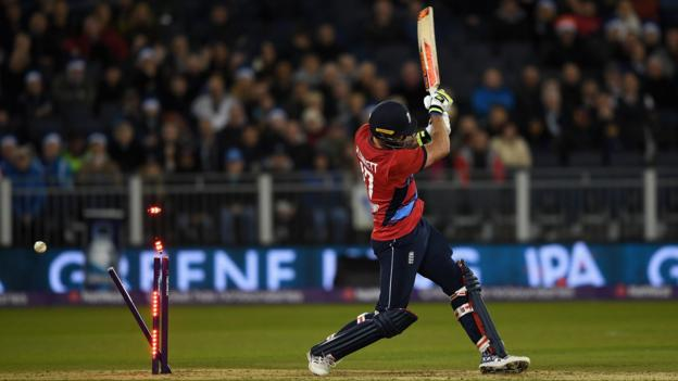 England crumble as Windies win solitary T20 - highlights & report