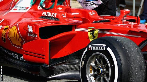 Ferrari sidepod