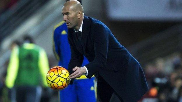 Real Madrid: Zinedine Zidane says club must improve - BBC Sport