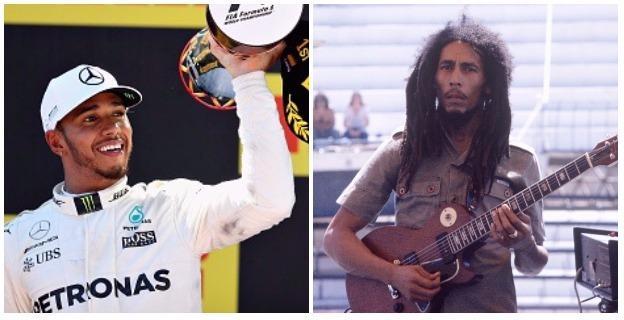 Lewis Hamilton and Bob Marley