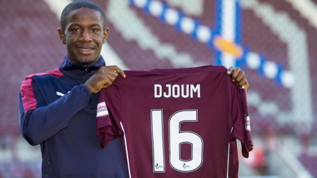 Midfielder Arnaud Djoum seeks stability at Hearts - BBC Sport