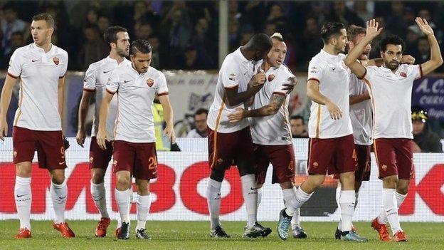 Fiorentina 1-2 Roma - BBC Sport
