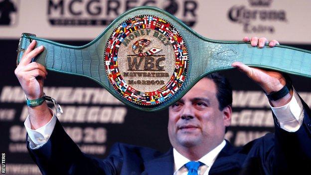 The new WBC Money Belt