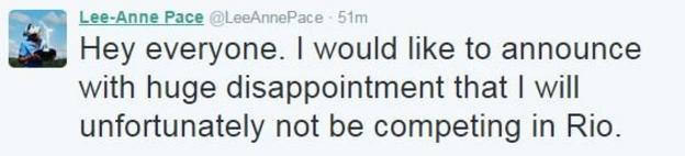 Lee-Anne Pace Twitter
