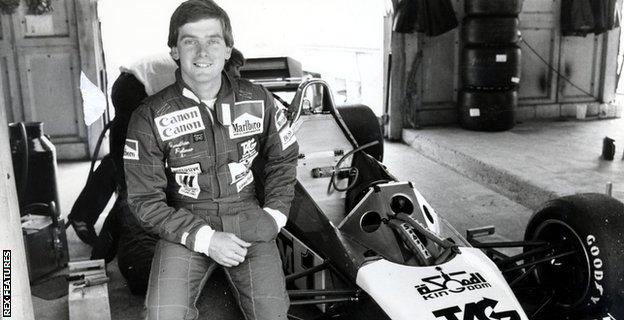 Dr Jonathan Palmer during the 1983 British Grand Prix