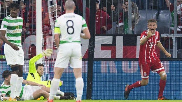 Thomas Muller celebrates