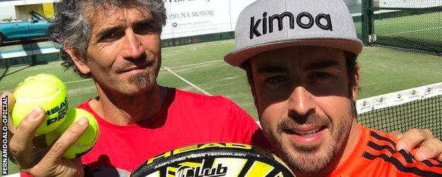 Fernando Alonso posted this picture on instagram
