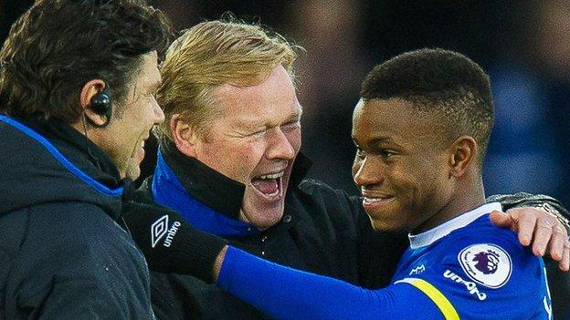 Koeman was quick to congratulate Lookman, who scored seven times for Charlton this season