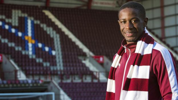 New deal for Hearts' Arnaud Djoum after three goals in seven games