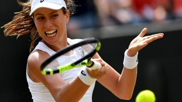 Konta reaches Wimbledon quarter-finals - video & report