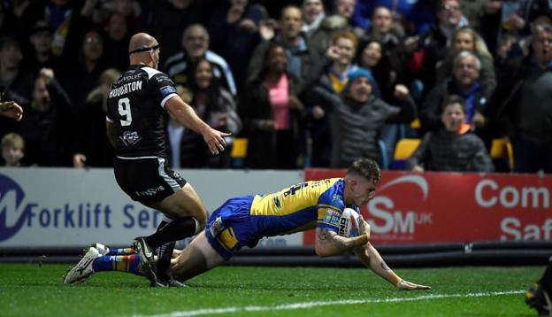Watch: Sutcliffe try secures stunning win for Leeds Rhinos