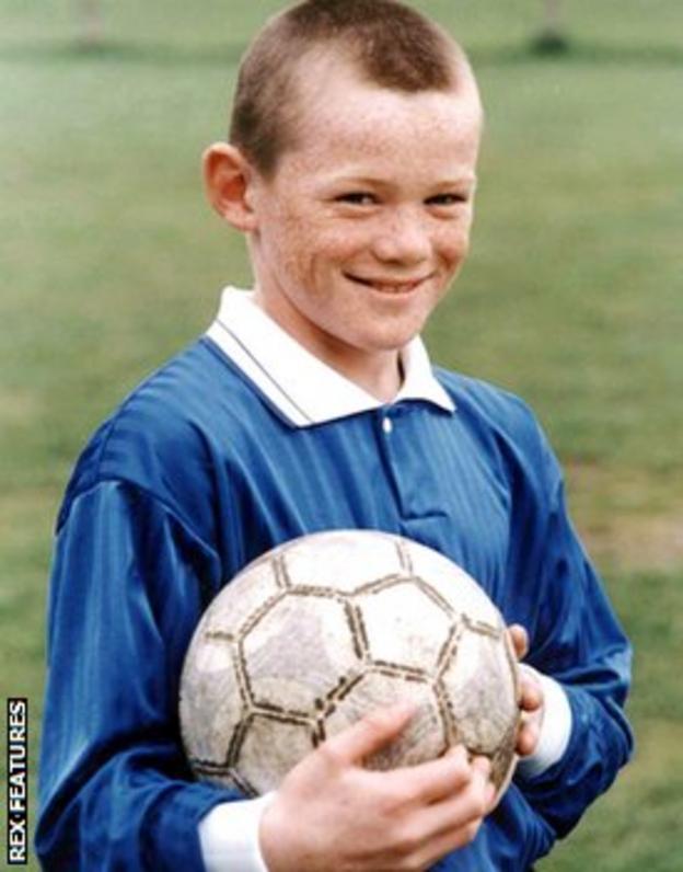 Wayne Rooney, aged 10, in 1995