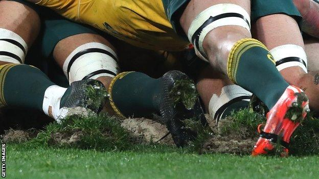 Australia scrum in Melbourne Test