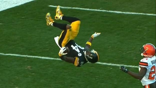 NFL: Antonio Brown's somersault touchdown in week 10's top plays ...