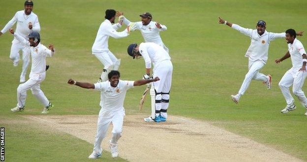 Sri Lanka beat England at Headingley in 2014