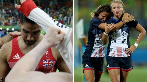 Louis Smith and Great Britain rugby sevens players