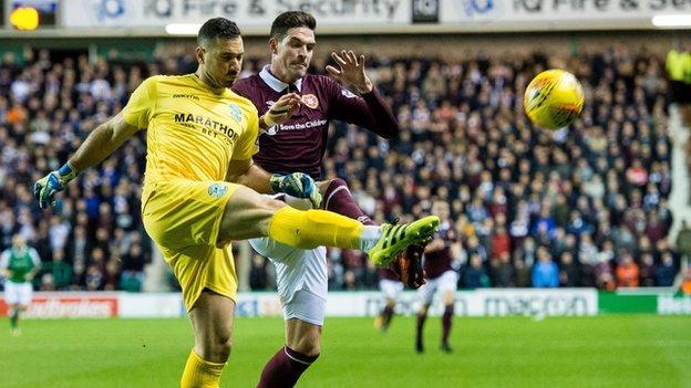 Hearts striker Kyle Lafferty