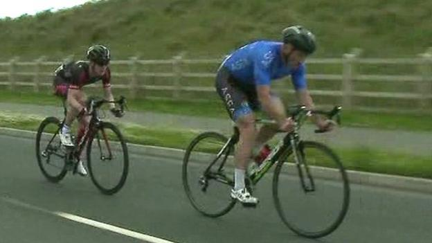 Damien shaw and lydia boylan take omagh road race honours bbc sport