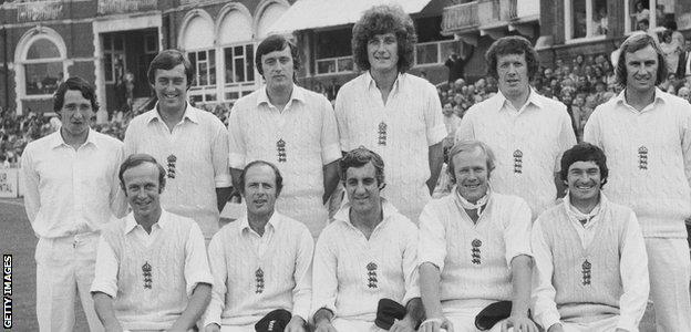 Woolmer (second row, back left) scored all three of his Test centuries against Australia