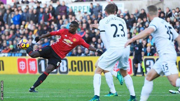 Pogba scores against Swansea