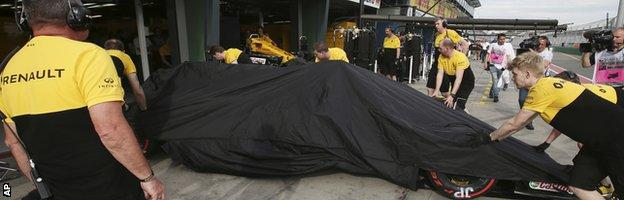 Palmer's car goes back to the garage