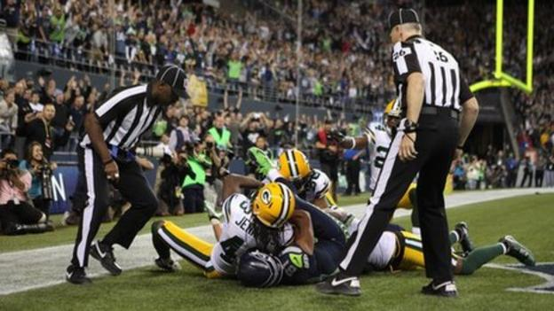 NFL: Controversial touchdown in Seahawks/Packers clash - BBC ...