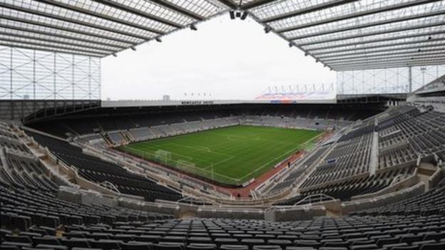 Newcastle stadium reverts to St James' Park in sponsorship deal - BBC Sport