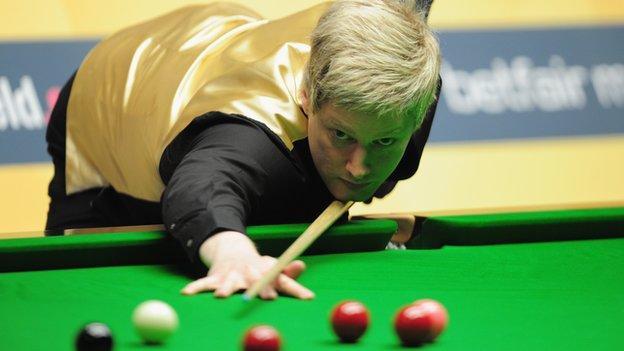 snooker latest scores bbc