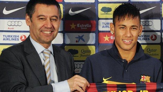 Neymar case embarrassed Barcelona, says club president - BBC ...