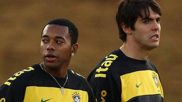 World Cup 2014: Kaka and Robinho omitted from Brazil squad ...