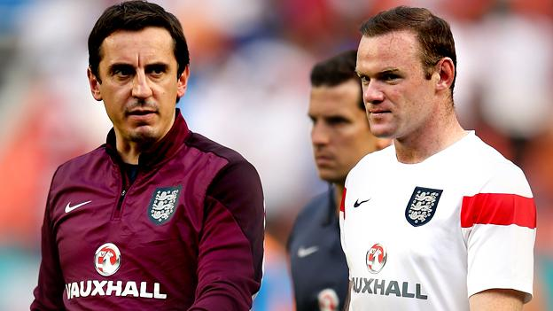 Image result for Gary Neville and Rooney