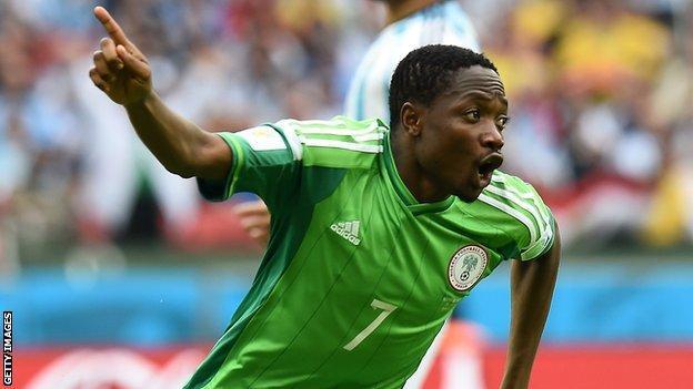 World Cup 2014: Musa revels in Nigerian goals record - BBC Sport