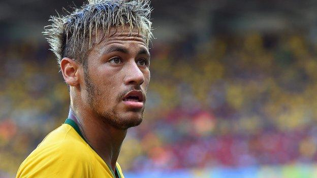 World Cup 2014: Brazil's Neymar set to face Colombia - BBC Sport