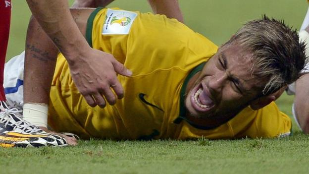 Neymar: Brazil forward out of 2014 Fifa World Cup with back injury ...