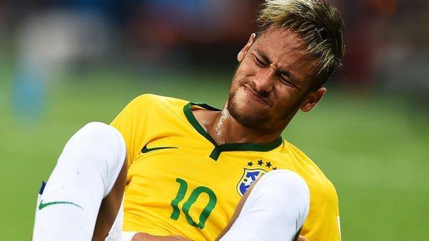 World Cup 2014: Juan Zuniga apologises for Neymar injury - BBC ...