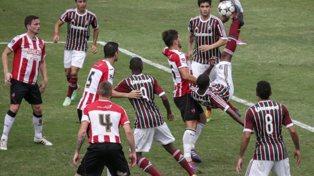 Fluminense U23s 0-0 Exeter City at the Stade de Llanjeiras - BBC ...