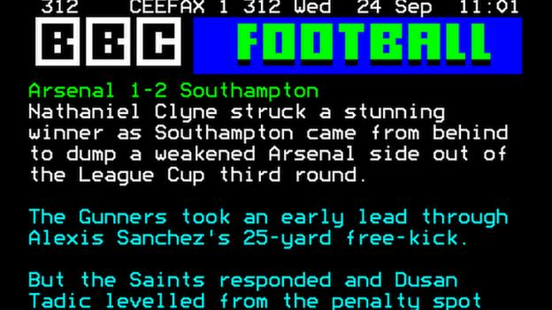 Ceefax at 40 your capital one cup ceefax match reports - Bbc football league 1 table ...