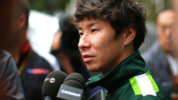 Caterham: Kamui Kobayashi was 'scared' before Russian GP - BBC ...