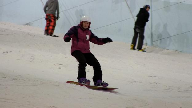 Meet Norma, the 75-year-old snowboarding grandmother - BBC Sport