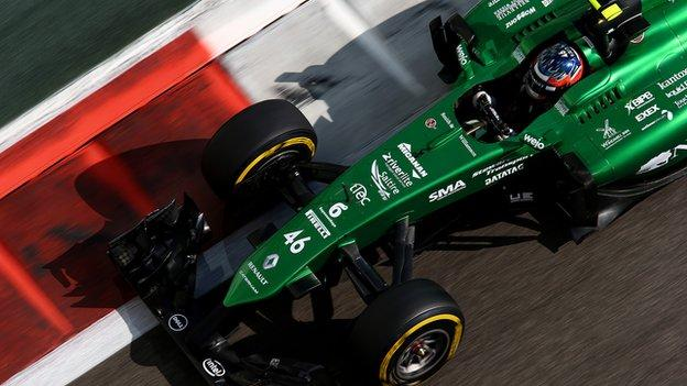 Formula 1: Caterham allowed to run 2014 car in 2015 - BBC Sport